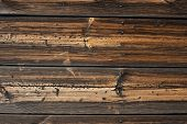 Old vintage planked wood board