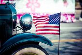 stock photo of parade  - Classic cars parade in Washington DC - JPG
