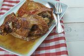 Roast Leg Of Lamb With Garlic And Rosemary