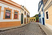 Beautiful colorful houses in Olinda