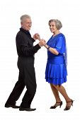 foto of waltzing  - Close-up portrait of an older couple on a white background ** Note: Soft Focus at 100%, best at smaller sizes - JPG