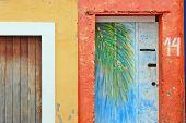 Beautiful colourful houses in Olinda
