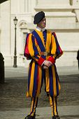 Swiss Guard Outside Vatican