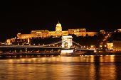 Buda Castle And The Chain Bridge At Night