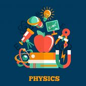 Physics science flat design