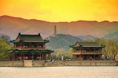 Summer Palace with historical architecture in Beijing.