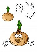 Fun cartoon brown onion vegetable
