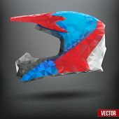 Abstract creative motorcycle helmet. Vector Illustration.