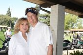 LOS ANGELES - APR 14:  Margie Perenchio, Jack Wagner at the Jack Wagner Anuual Golf Tournament benef