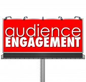 Audience Engagement Words Red Billboard Customer Participation