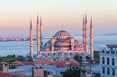 Blue mosque Istanbul sunset