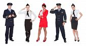 foto of work crew  - Flight crew members pilots stewardesses - JPG