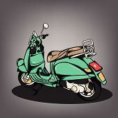 picture of vespa  - The nice Modern Scooter vector design collection - JPG