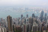 View Of Hong Kong From Victoria Gap, Near The Top Of Victoria Peak