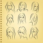 woman face on paper