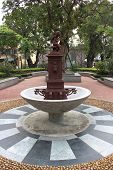 Fountain In Coloane Village In Taipa, Macao