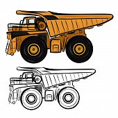 picture of dumper  - Vector illustration  - JPG