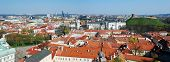picture of pubic  - Cathedral pubic domain square area in the center of the old European Vilnius city in Lithuania - JPG