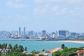 A view of Recife from the hills of Olinda with the sea in the front