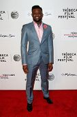 NEW YORK-APR 17: Former NFL player Walter Thurmond attends the 'When the Garden Was Eden' premiere a