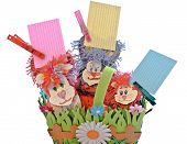 Picture Festive Crafts Handmade Pieces Of Paper For Notes Reminders Plans