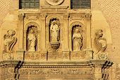 Statues Angels Facade Church Iglesia Of Santa Anna Rio Darro Granada Andalusia Spain