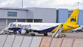 Monarch Airlines Airplane At The Airport