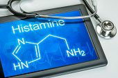 Tablet with the chemical formula of histamine