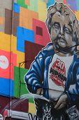 Manneken Wall Painting In Bruxelles