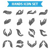 Hand hold protect icons