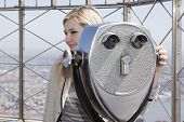 NEW YORK-APR 21, 2014: Actress & Project Sunshine Ambassador Abigail Breslin on the roof of the Empi