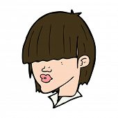 cartoon fashion haircut