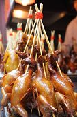 Duckling skewers in Shanghai, China