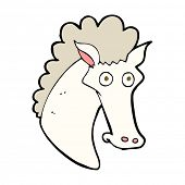 cartoon horse head