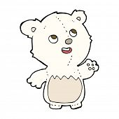 cartoon happy little teddy polar bear