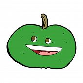 cartoon happy apple