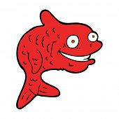 cartoon happy fish