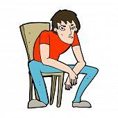 cartoon dejected man