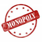 Monopoly Red Weathered  Stamp Circle And Stars