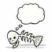 cartoon skeleton fish bones