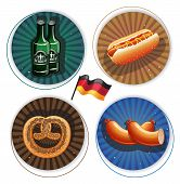 Beer And Snacks Oktoberfest Labels