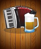 Accordion And  Beer Mug