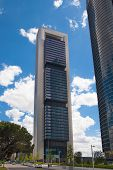 MADRID, SPAIN - AUGUST 12, 2014: Madrid city Business centre, modern skyscrapers