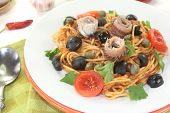 Spaghetti Alla Puttanesca With Anchovy