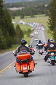 Harley Davidsons in Yellowstone