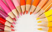 Warm Colored Pencils in Arc