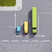 Business Logistic Transportation Service Graphs Illustration