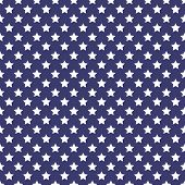 Patriotic white and blue geometric seamless pattern
