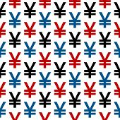 Yen Symbol Seamless Pattern