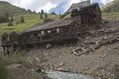 Remains of an old mining town in alpine loop/Colorado poster